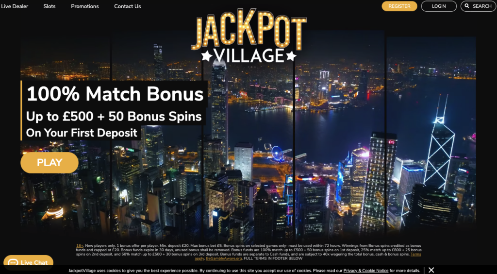 jackpot village welcome