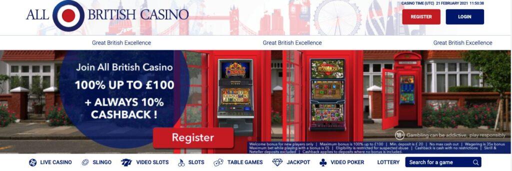 all british casino welcome