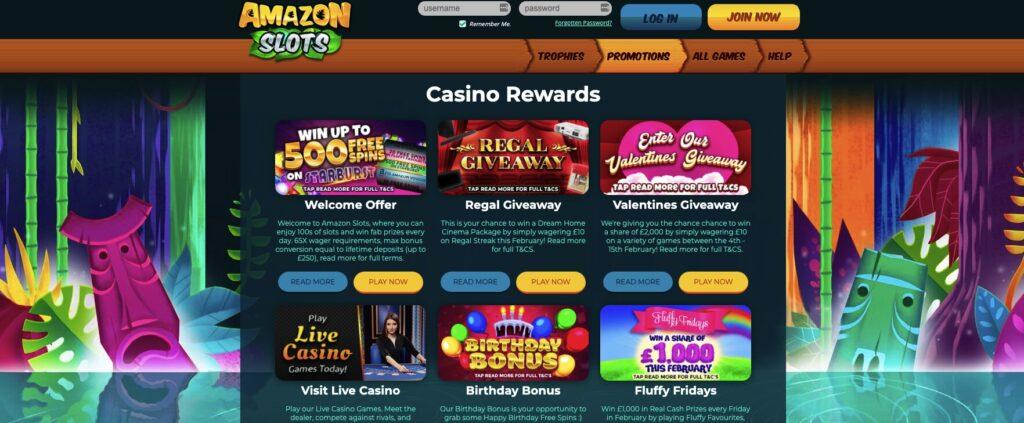 amazon slots promotions