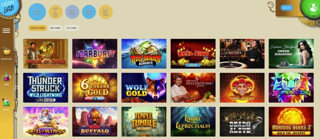 casinolab games 1
